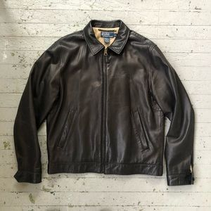 Super soft Black Leather Polo Ralph Lauren Jacket